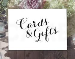wedding gift signs cards gifts sign chalkboard printable wedding printable