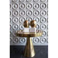 Pedestal Table Hans Pedestal Blackened Brass Side Table Modern Furniture