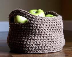 Knitting Home Decor Grey Basket Crochet Basket Knit Basket Crochet Storage