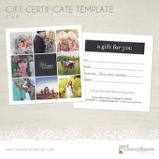 photographer photography gift certificate template personalized