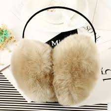 2017 women faux rabbit fur earmuffs girls cute plush fluffy ear