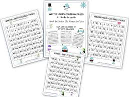 free winter skip counting pages u2013 2s 3s 4s 5s 6s homeschool den