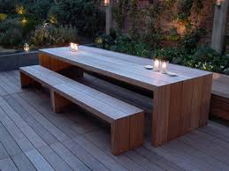 outdoor table and benches minimalist home decoration gallery