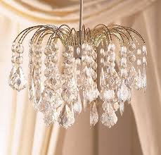 Glass Droplet Ceiling Light by Elegant Large Gold Frame Waterfall Clear Acrylic Crystal Droplet