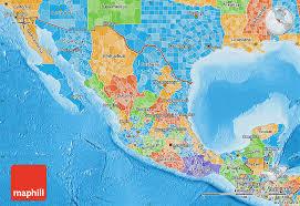 political map of mexico political map of mexico