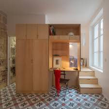 paris appartments studio apartment by anne rolland has a hidden room