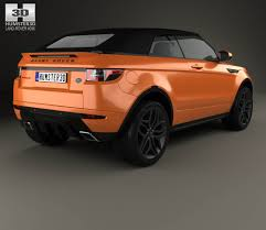 car range rover land rover range rover evoque convertible 2016 3d model hum3d