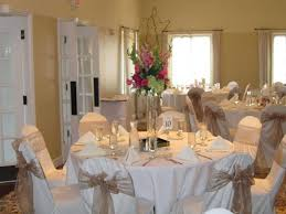 ivory chair covers with cappuccino organza sashes http www