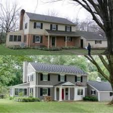 Exterior Paint Color Schemes For Brick Homes - before and after photo of painted brick house paint color is
