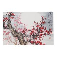 cherry blossom tree design placemat zazzle com