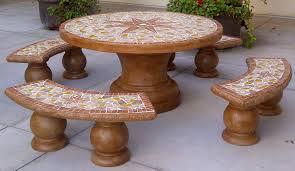 Concrete Patio Table Set Outdoor Concrete Furniture Ireland Outdoor Ideas