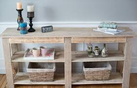 Side Table Buffet Diy Shabby Chic Pallet Buffet And Sofa Table 101 Pallets