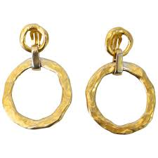 1970s earrings 1970s yves laurent hoop earrings for sale at 1stdibs