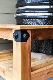 How To Build A Buffet Cabinet by Diy Kamado Grill Table
