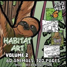 coloring pages of animals in their habitats animals in their habitat coloring page u0026 poster combo volume 2