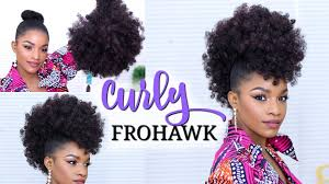 drawstring ponytail faux hawk using a drawstring ponytail how to do a curly frohawk