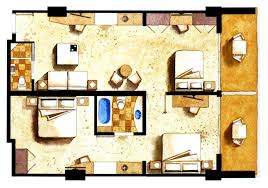 Hotel Suite Floor Plan One Bedroom Suites Grand Beach Hotel Miami Beach Florida