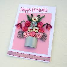 paper greeting cards paper quilling greeting card paper quilled silver pot of pink and