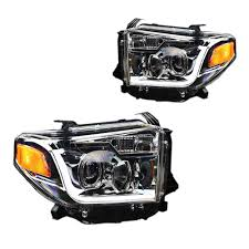 toyota tundra toyota tundra projector headlight chrome with led drl pair 2014 2017