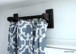 Stationary Curtain Rod Making Curtain Rods Out Of Towel Bars Hometalk