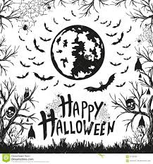 happy halloween sign and icons for halloween stock vector image