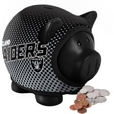 sports themed piggy banks forever collectibles nfl sweater piggy bank oakland raiders