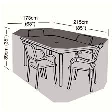 Rectangular Patio Tables Protector 4 Seater Rectangular Patio Set Cover 215cm