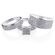 Wedding Rings Sets by Wedding Ring Sets Diamond Ring Set 10k Gold 1 24ct