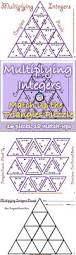 multiplying integers matching triangle puzzle specific ways to
