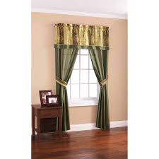 Arlee Home Fashions Curtains Mainstays Green And Gold 5 Window Panel Set Best Curtain Sets