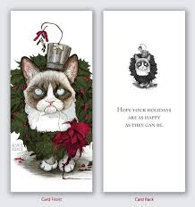 save 5 dollars grumpy cat christmas cards value pack 6 cards