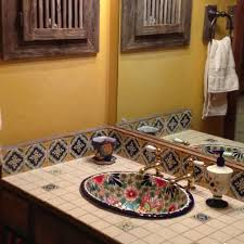 Mexican Bathroom Bold Ideas Mexican Tile Bathroom Ideas Sinks And Vanities Just