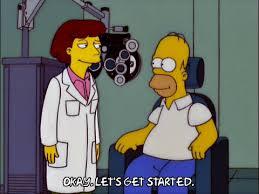 Eye Doctor Meme - homer simpson optometrist gif find share on giphy