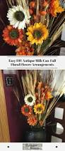 easy diy antique milk can fall floral flower arrangements