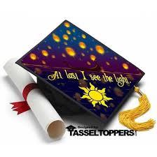 graduation cap toppers at last i see the light tangled grad cap tassel topper tassel
