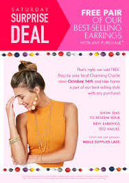 charming charlie black friday sale charming charlie free austin earrings with any purchase reg 12 00
