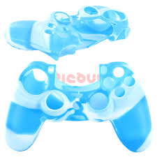 ps4 controller white light 2pcs lot soft silicone camouflage skin case cover for sony