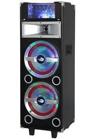 bluetooth party speakers with lights dolphin sp 23bt professional bluetooth party speaker w lights aux