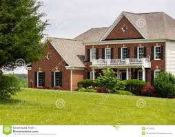 Front Elevation For House Front Elevation Large Single Family Home Stock Photo Image 41152027