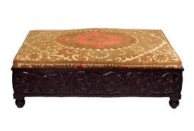 Vintage Ottoman by Wooden Carved Ottoman With Vintage Suazni Omero Home