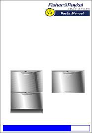Fisher Paykel Dishwasher Parts Fisher U0026 Paykel Dishwasher Dd603i User Guide Manualsonline Com