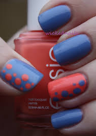 nail art stripes and dots wickednails