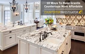 granite countertops cost u2013 10 ways to get them for less