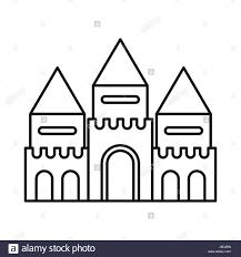 fairy tale castle icon outline style stock vector art