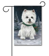 west highland terrier snow bunny garden flag 12 5 u0027 u0027 x 18