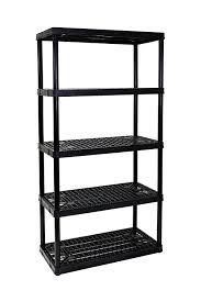 5 Shelf Wire Shelving Amazon Com Gracious Living 5 Shelf Heavy Duty Shelf Unit Home