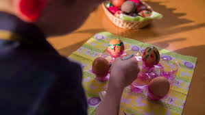 Decorate Easter Eggs Video by Creative Paintings On Chicken Eggs For Easter Holiday 4k Side