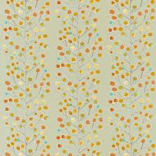 Orange Curtain Material Berry Tree Fabric Neutral Tangerine Powder Blue Lemon 120052