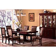Overstock Dining Room Furniture by Furniture Of America Ravena Oak 7 Piece Cherry Dinette Set Brown