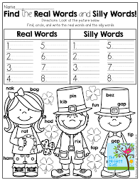 find and write real words verses silly words tons of fun
